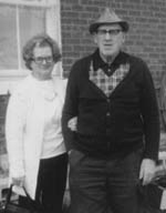 Harold and Marjorie at their daughters home. Spring 1980