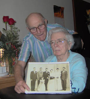 Billy and Iva Oates on their 55th wedding anniversary. June 2007.