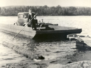 The first Spotswood ferry was launched around 1840